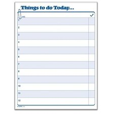 <strong>Tops Business Forms</strong> Things To Do Today Daily Agenda Pad, 100 Forms