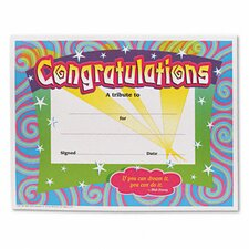 Congratulations Certificates Border, 30/Pack