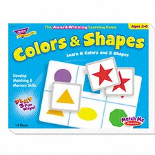 Colors and Shapes Match Me Puzzle Game