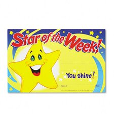 Recognition Awards, Star Of The Week! 30/Pack