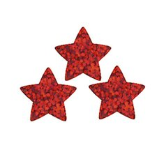 Supershapes Red Sparkle Stars 400pk