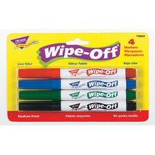 Wipe Off Marker 4 Standard Colors