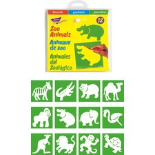 <strong>Trend Enterprises</strong> Stencils Zoo Animals