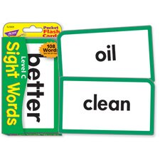 Pocket Flash Cards Sight Words C
