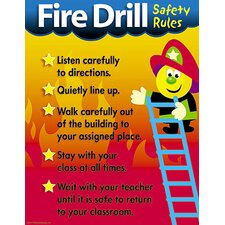 Chart Fire Drill Safety Rules