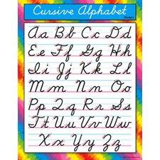 Chart Cursive Alphabet Modern