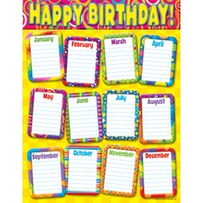 <strong>Trend Enterprises</strong> Chart Razzle Dazzle Birthday