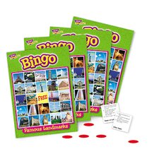 Bingo Famous Landmarks Ages 8 & Up