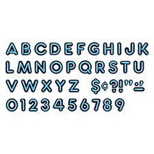 Bright Blue Ready Letters 4in Upper