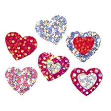 Sparkle Stickers Shimmering Hearts
