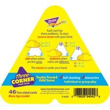 Three-corner Flash Cards 48/pk