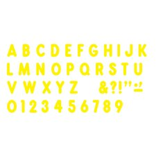 "Yellow Ready Letters 7"" Uppercase"