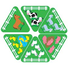 <strong>Trend Enterprises</strong> Learning Games 1-2-3 Farmyard