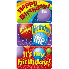Applause Stickers Birthday 30/pk