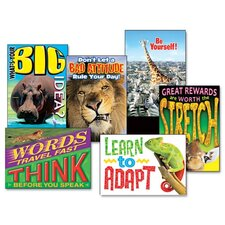 "Assorted ""Animals - Self Discovery"" Motivational Prints, 6/Pack"