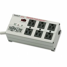 Isobar Surge Suppressor Metal Rj11, 6 Outlet, 6Ft Cord, 3330 Joules