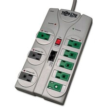 Eco Surge Green, 8 Outlet, Tel Dsl, 8Ft Cord, 2160 Joules
