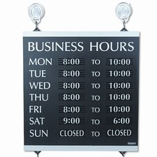 Headline Sign Century Series Business Hours Sign
