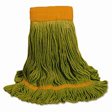 Ecomop Looped-End Mop Head, Recycled Fibers, Medium Size