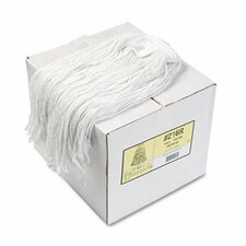 Premium Cut-End Wet Mop Heads, Rayon, 12/Carton