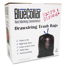 <strong>Unisan</strong> Bluecollar Drawstring Trash Bags, 80/Box