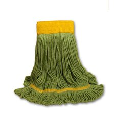 EchoMop Looped-End Medium Mop Head in Green (Set of 13)