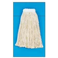Cotton Fiber Cut-End Mop Head in White