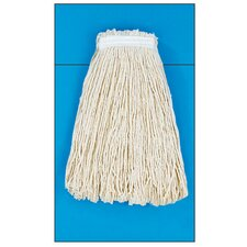 20 oz Rayon Fiber Cut-End Mop Head with Premium Standard Head in White