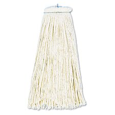 12 oz Economical Lie Flat Mop Head in White
