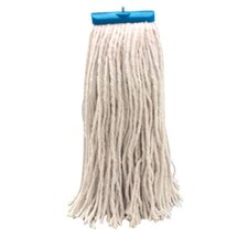 16 oz Economical Lie Flat Rayon Mop Head in White