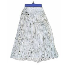 20 oz Economical Lie Flat Rayon Mop Head in White