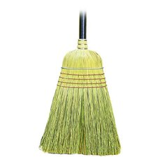 Yucca / Corn Fiber Bristles Warehouse Broom in Natural