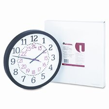 Two-Color Numerals Wall Clock