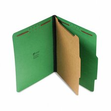 Pressboard Folder, Letter, Four-Section, 10/Box