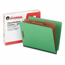 Pressboard End Tab Folders, 10/Box