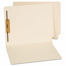 End Tab Folders, One Fastener, Letter, Manila, 50/Box