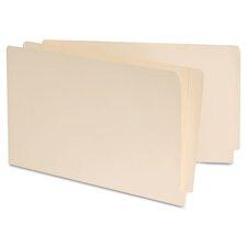 Manila Reinforced Shelf Folder, 100/Box