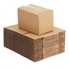 "Corrugated Kraft Fixed-Depth Shipping Carton, 25/Bundle (6"" H x 10"" W x 6"" D)"