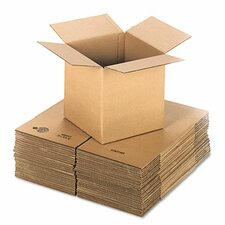 "Corrugated Kraft Fixed-Depth Shipping Carton, 25/Bundle (24"" H x 24"" W x 9"" D)"