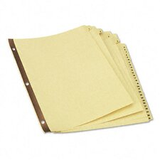 <strong>Universal®</strong> Preprinted Plastic-Coated Tab Dividers, 31/Set