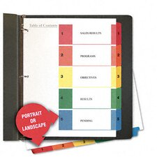 <strong>Universal®</strong> Table Of Contents Dividers, 6 Sets/Pack