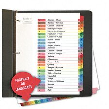 Table Of Contents Dividers, 26/Set