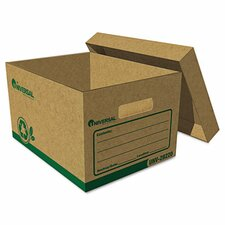 "Recycled Record Storage Box, Letter, 12"" X 24"" X 10"", Kraft, 12/Carton"