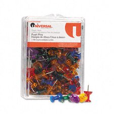 Colored Push Pins, 100/Pack
