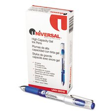 <strong>Universal®</strong> High Capacity Roller Ball Stick Gel Pen, 12/Pack