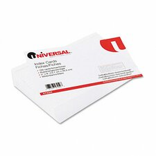 Ruled Index Cards, 5 x 8, White, 500 per Pack