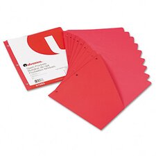 Slash-Cut Pockets For Three-Ring Binders, 10/Pack