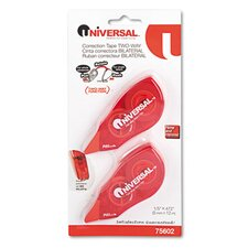 Correction Tape with Two-Way Dispenser, 2/Pack