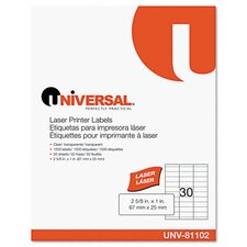 <strong>Universal®</strong> Laser Printer Permanent Labels, 1500/Box