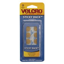 "5/8"" Beige Sticky Back Coins (15 Count)"